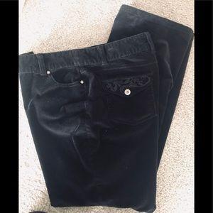 Style&Co women's 14P black, soft Corduroy pants